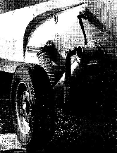 Передняя подвеска амфибии.