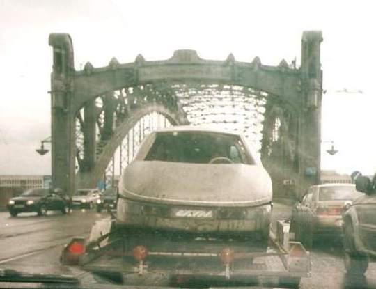 """Спустя 20 лет: """"Охта"""" на фоне Охтинского моста."""