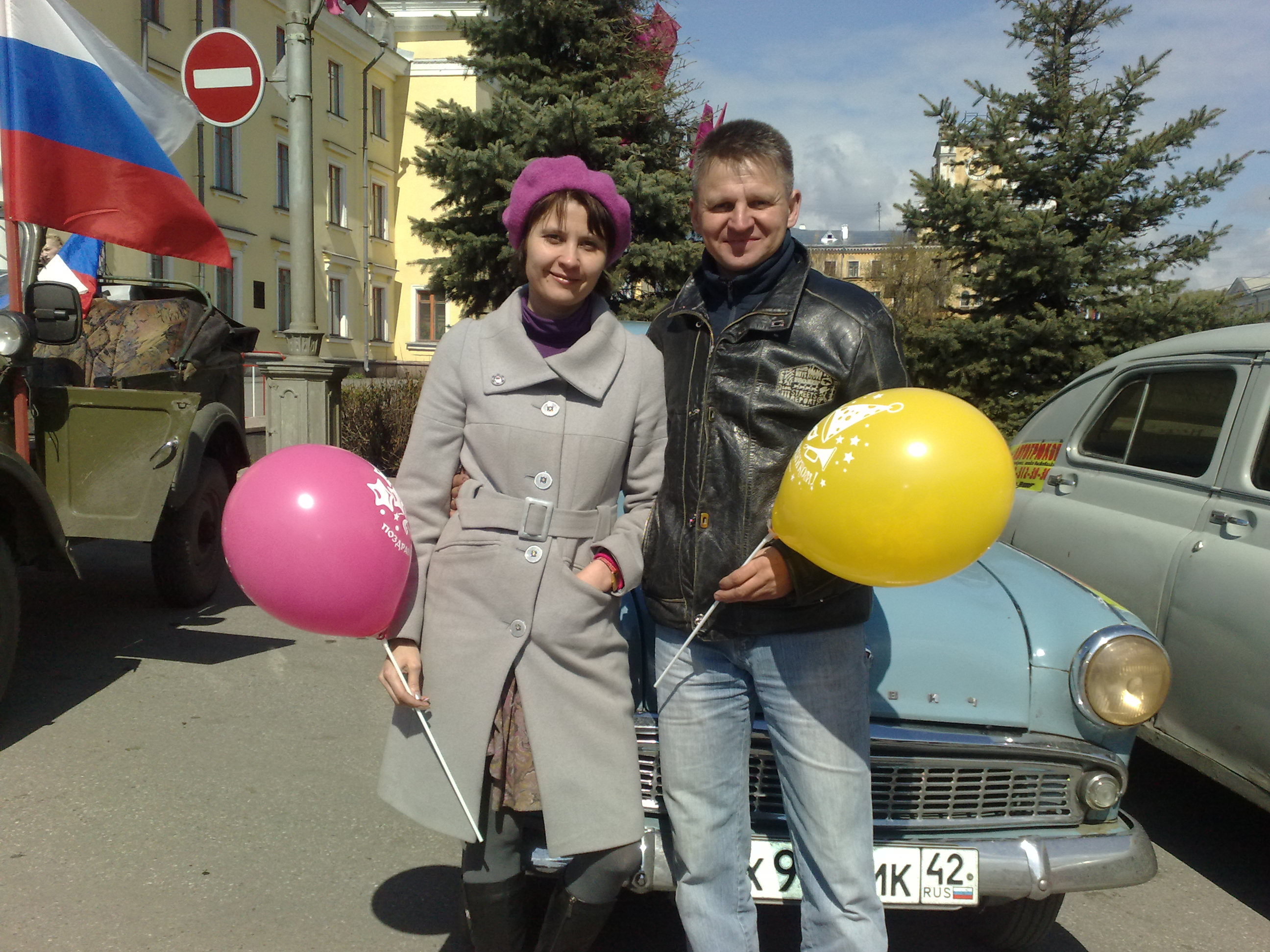 Москвич М-403 на параде.