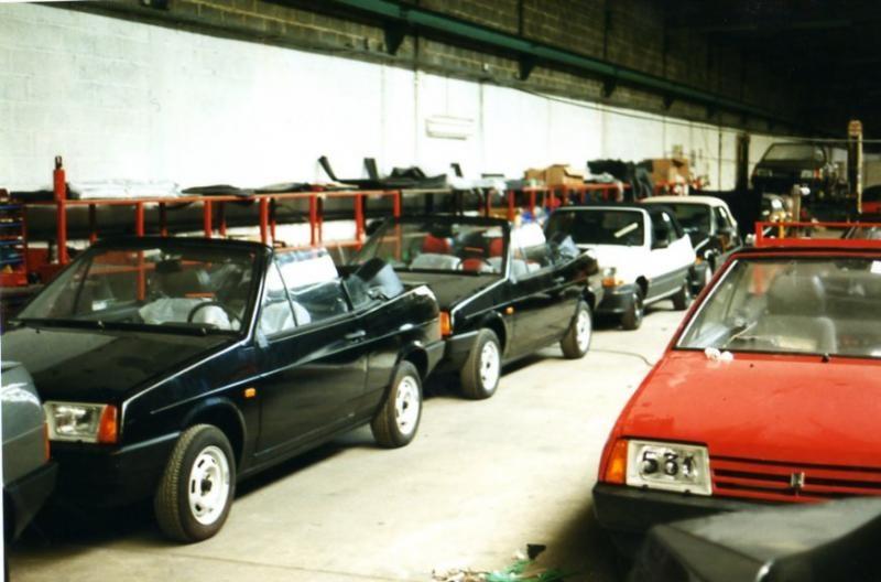 Экспортные кабриолеты ВАЗ-2108.