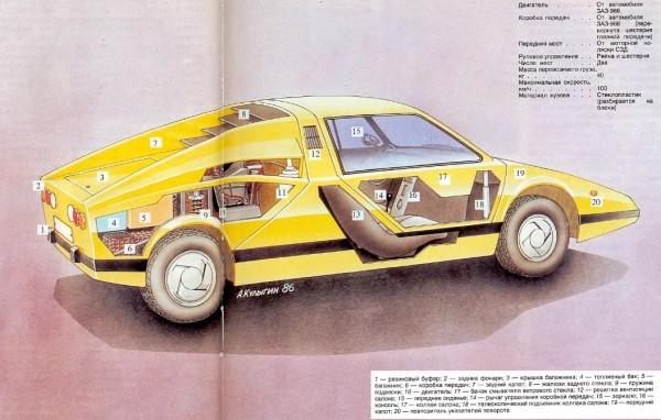 """Рисунок из книги """"Я строю автомобиль""""."""